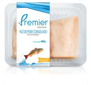 Embalagem de pescada amarela